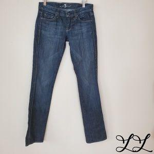 7 For All Mankind Jeans Edie Skinny Med Dark Wash